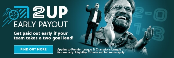 Fixed Odds Football Promotion - 2-Up Premier League Promotion